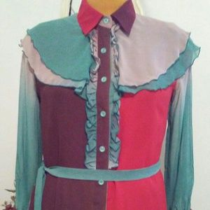 Anthropologie Color block Blouse/Shirt